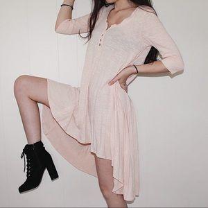 Free People Light Pink High Low Dress